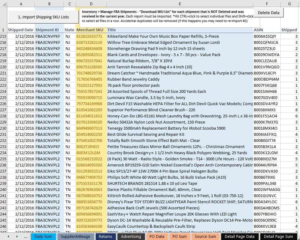 the ultimate amazon fba sales spreadsheet v2  u2013 tools for fba